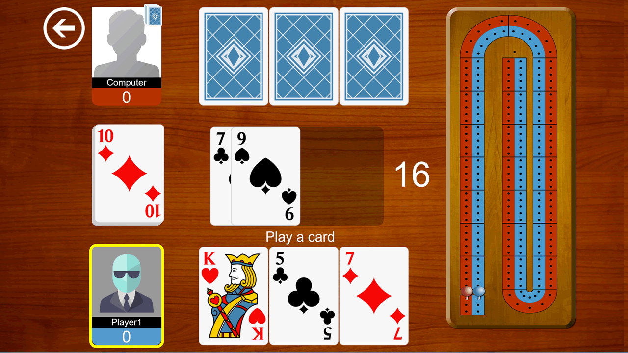 Cribbage the card game screen shot